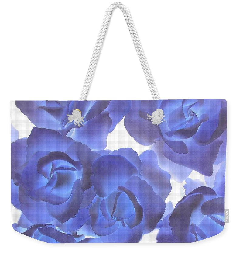 Blue Weekender Tote Bag featuring the photograph Blue Roses by Tom Reynen