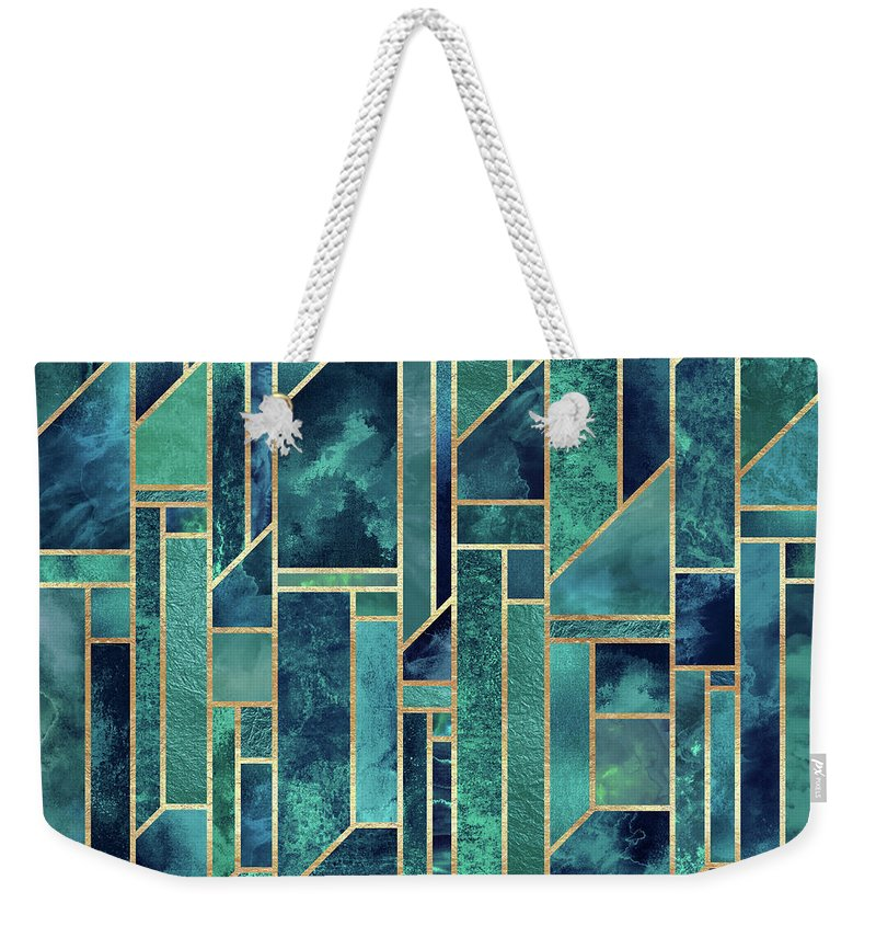 Graphic Weekender Tote Bag featuring the digital art Blue Skies by Elisabeth Fredriksson
