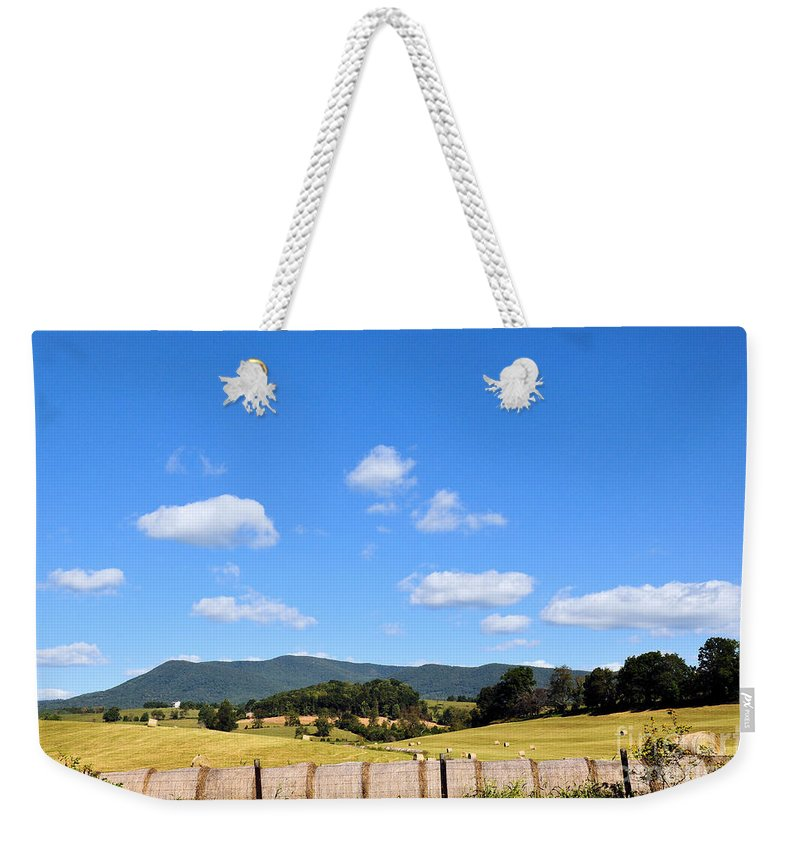 Mountains Weekender Tote Bag featuring the photograph Blue Skies by Todd Hostetter