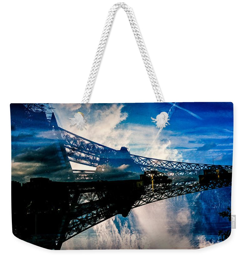 Xpanded Photography Weekender Tote Bag featuring the pyrography Blue Sky In Paris by Cyril Jayant