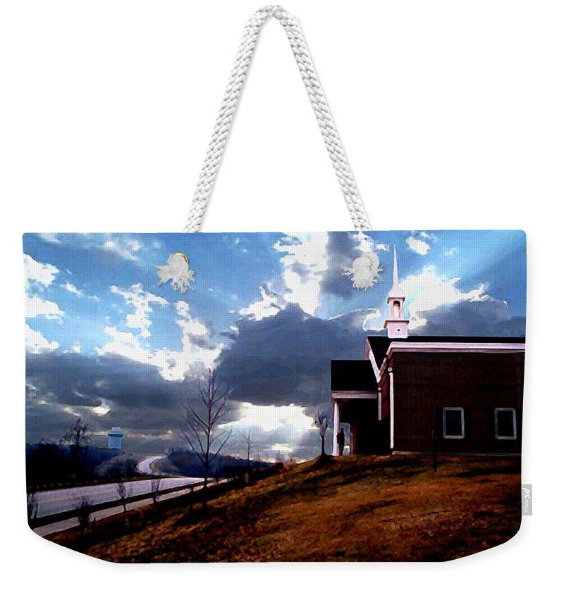 Landscape Weekender Tote Bag featuring the photograph Blue Springs Landscape by Steve Karol