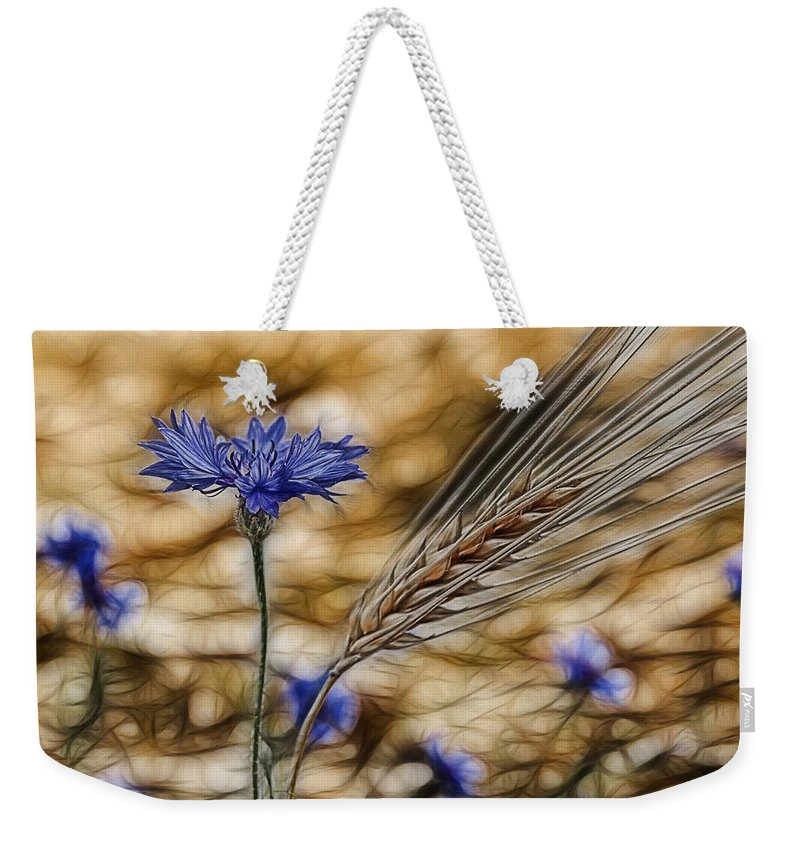 Cornfield Weekender Tote Bag featuring the photograph Blue Stars by Joachim G Pinkawa
