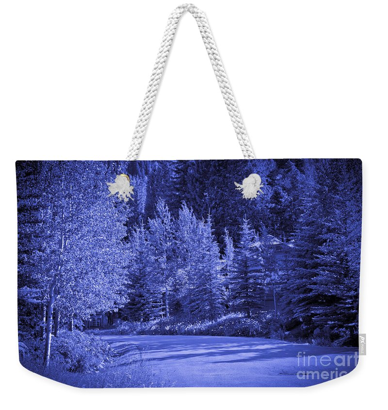 Trees Weekender Tote Bag featuring the photograph Blue Vail by Madeline Ellis