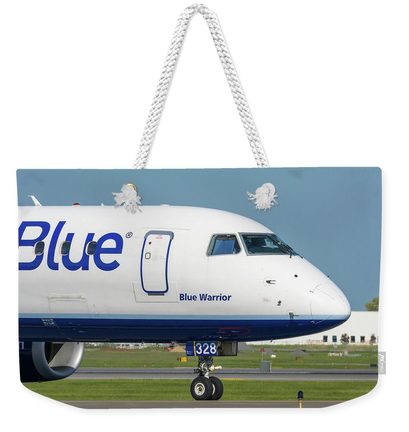 Aviation Weekender Tote Bag featuring the photograph Blue Warrior by Guy Whiteley