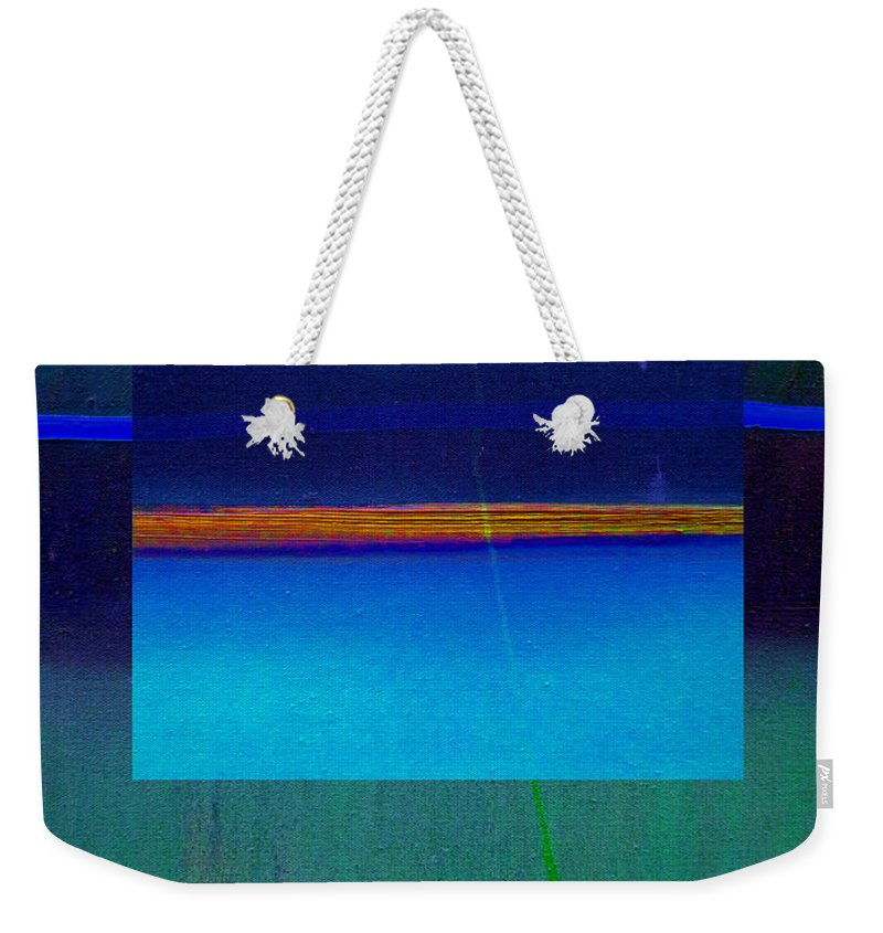 Landscape Weekender Tote Bag featuring the painting Blue Water by Charles Stuart