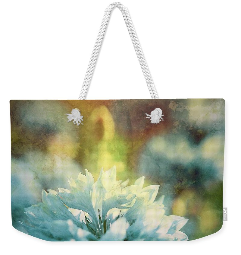 Botanical Weekender Tote Bag featuring the photograph Blue Yonder by Debra Cox
