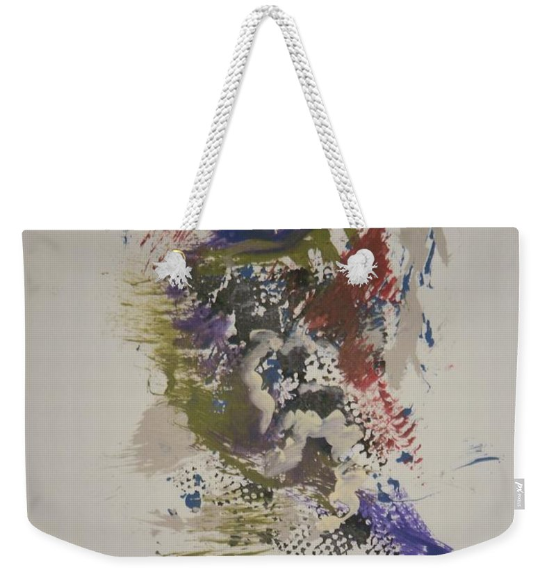 Bluebird Weekender Tote Bag featuring the painting Bluebird Of Happiness by Edward Wolverton