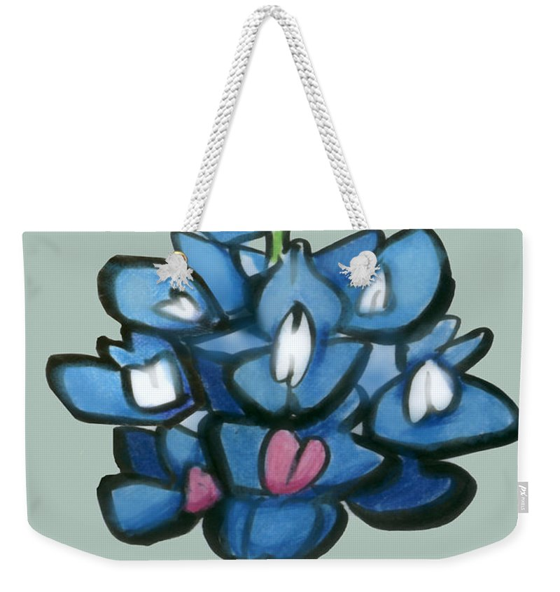 Bluebonnet Weekender Tote Bag featuring the digital art Bluebonnet by Kevin Middleton