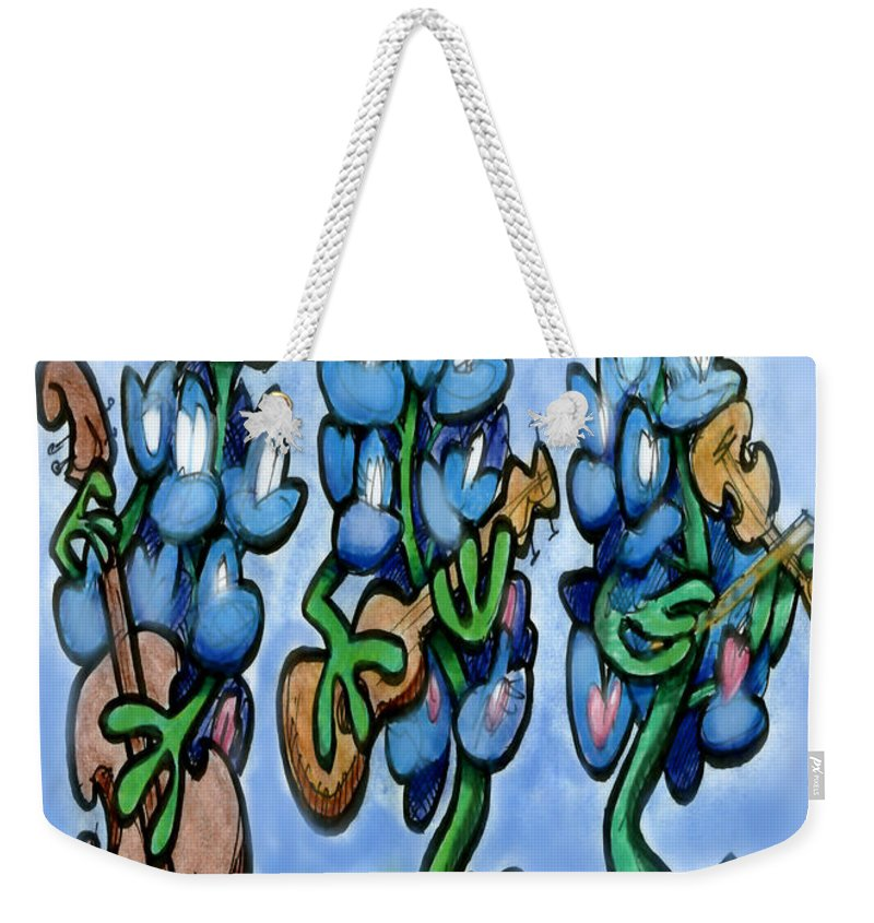 Bluebonnet Weekender Tote Bag featuring the digital art Blues Bonnets by Kevin Middleton