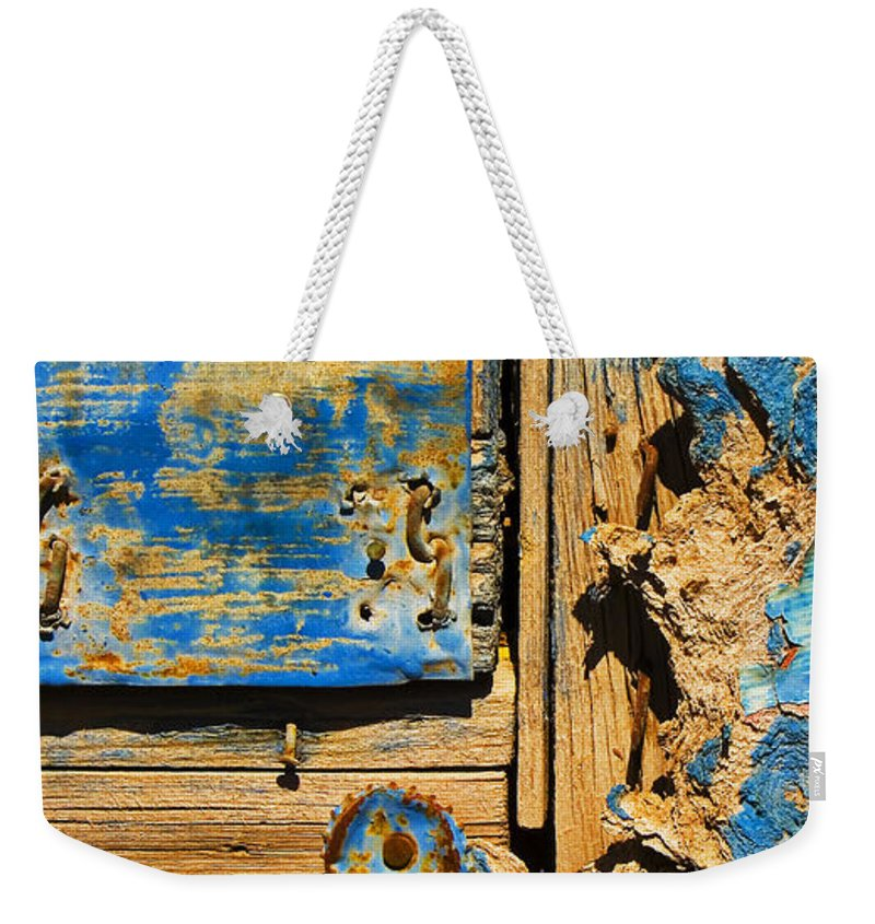 Abstract Weekender Tote Bag featuring the photograph Blues Dues by Skip Hunt