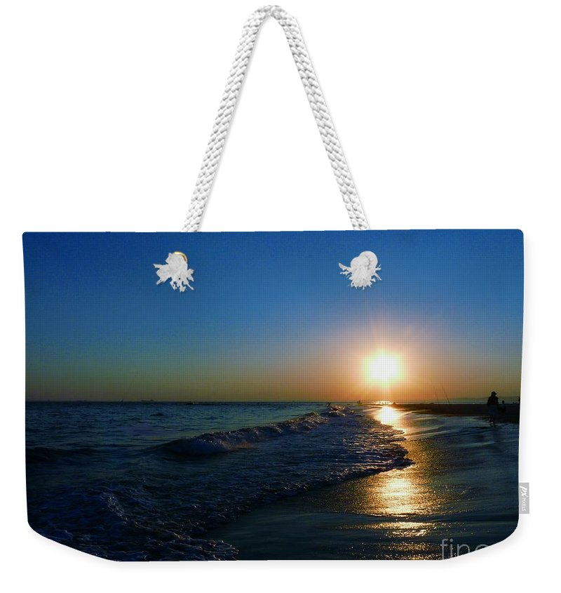 Landscape Weekender Tote Bag featuring the photograph Blues In The Evening by Kendall Eutemey