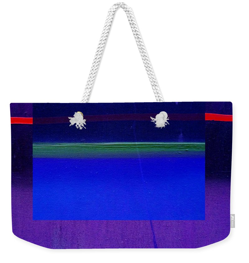 Landscape Weekender Tote Bag featuring the painting Bluescape by Charles Stuart