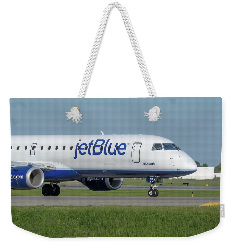 Aviation Weekender Tote Bag featuring the photograph Bluetopia by Guy Whiteley