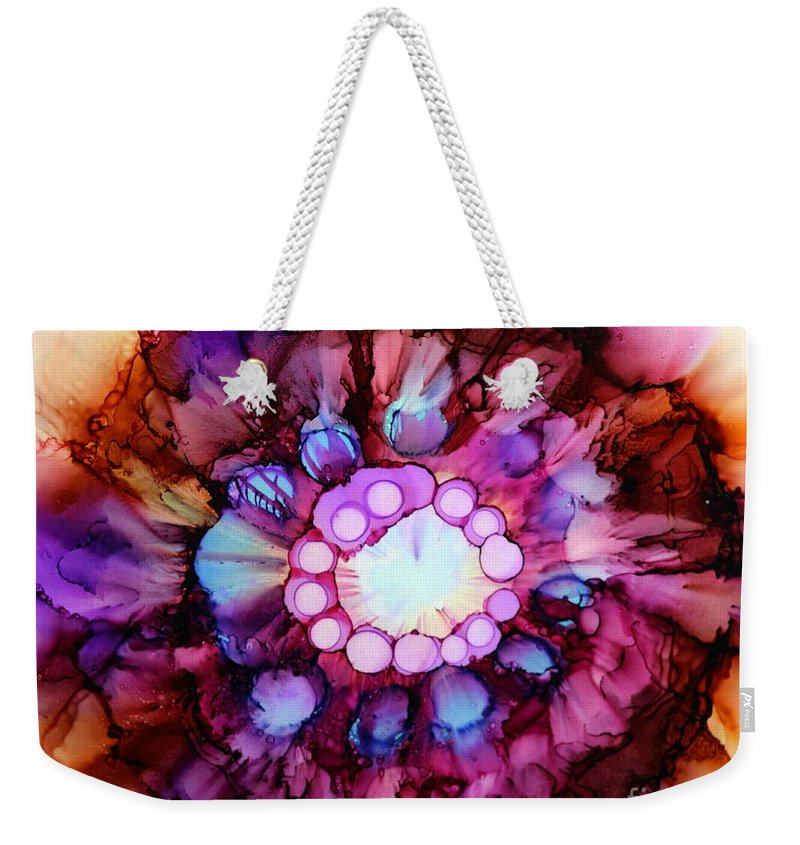 Floral Weekender Tote Bag featuring the painting Blurred by Beth Kluth