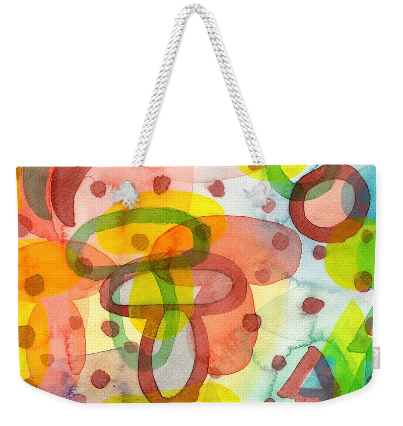 Blurry Weekender Tote Bag featuring the painting Blurry Mushroom And Other Things by Heidi Capitaine