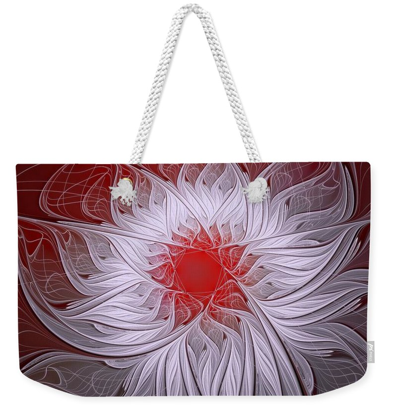 Digital Art Weekender Tote Bag featuring the digital art Blush by Amanda Moore