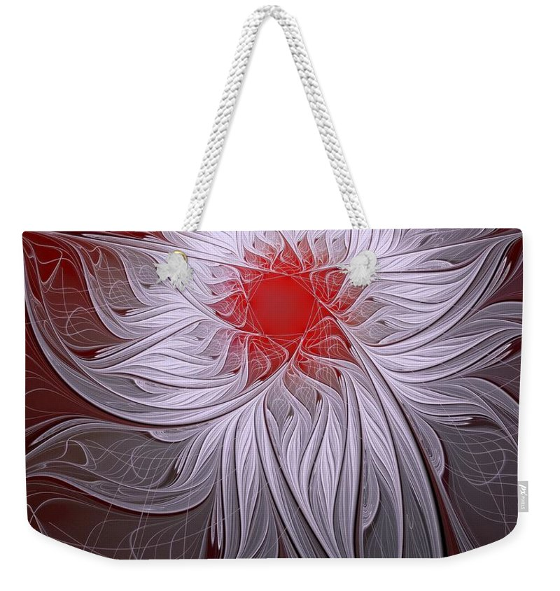 Digital Art Weekender Tote Bag featuring the digital art Blush by Amanda Moore