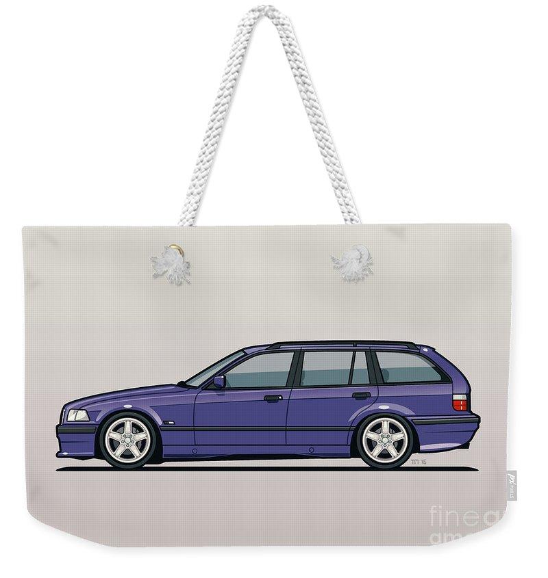 Bmw E36 328i 3 Series Touring Wagon Techno Violet Weekender Tote Bag
