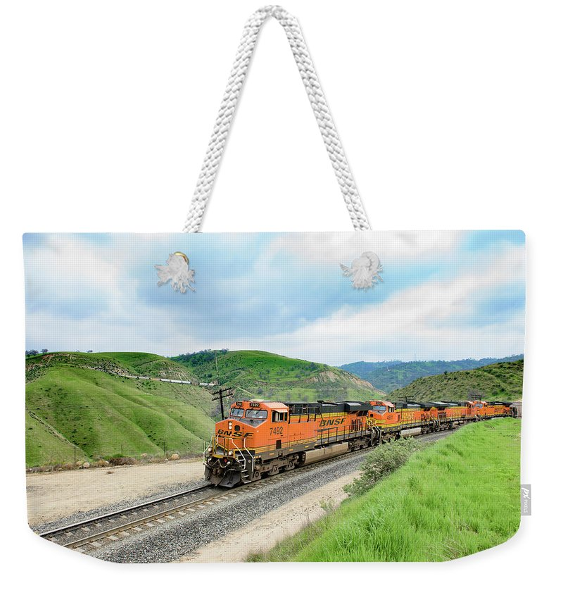 Bnsf Weekender Tote Bag featuring the photograph Bnsf7492 3 by Jim Thompson