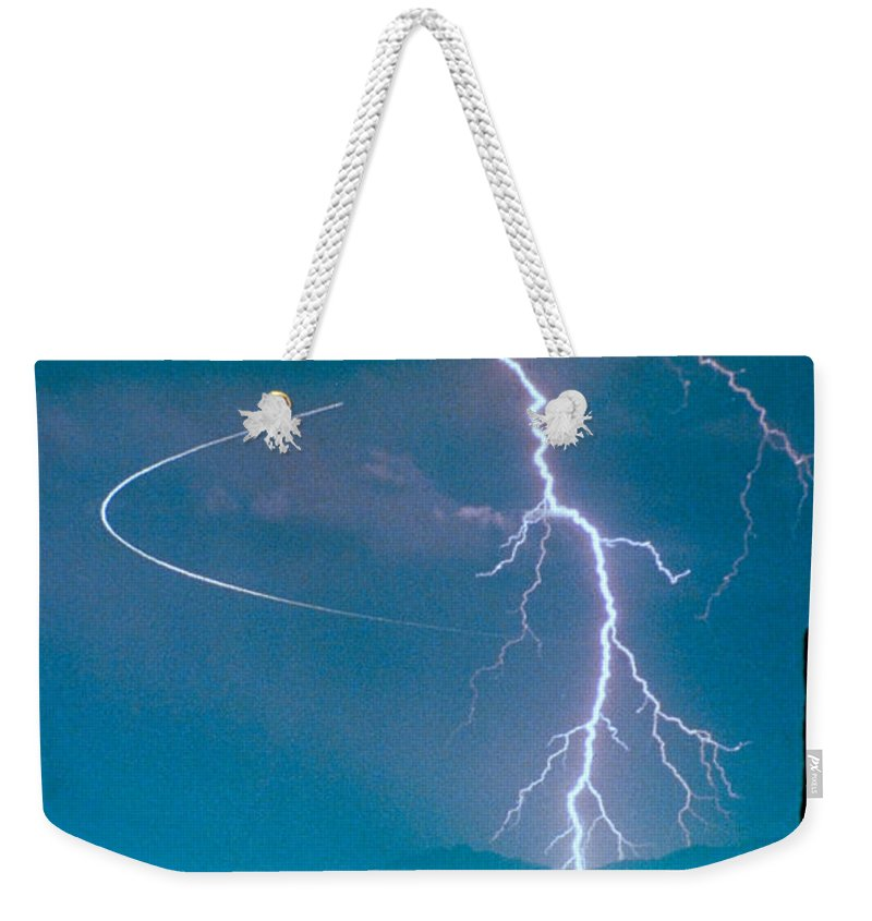 Lightning Weekender Tote Bag featuring the photograph Bo Trek The Poster by James BO Insogna