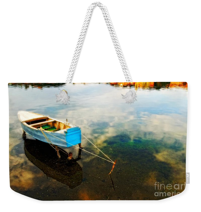 Boat Weekender Tote Bag featuring the photograph Boat by Silvia Ganora