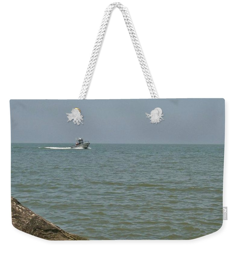 Boat Weekender Tote Bag featuring the photograph Boating Fun by Sara Raber