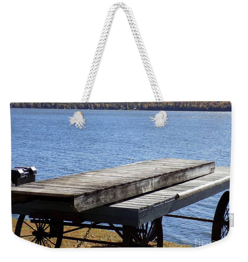 Boating Weekender Tote Bag featuring the photograph Boating Season Is Over by William Tasker