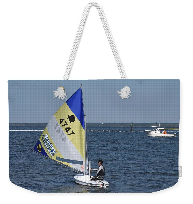 Boats Weekender Tote Bag featuring the photograph Boats 171 by Joyce StJames