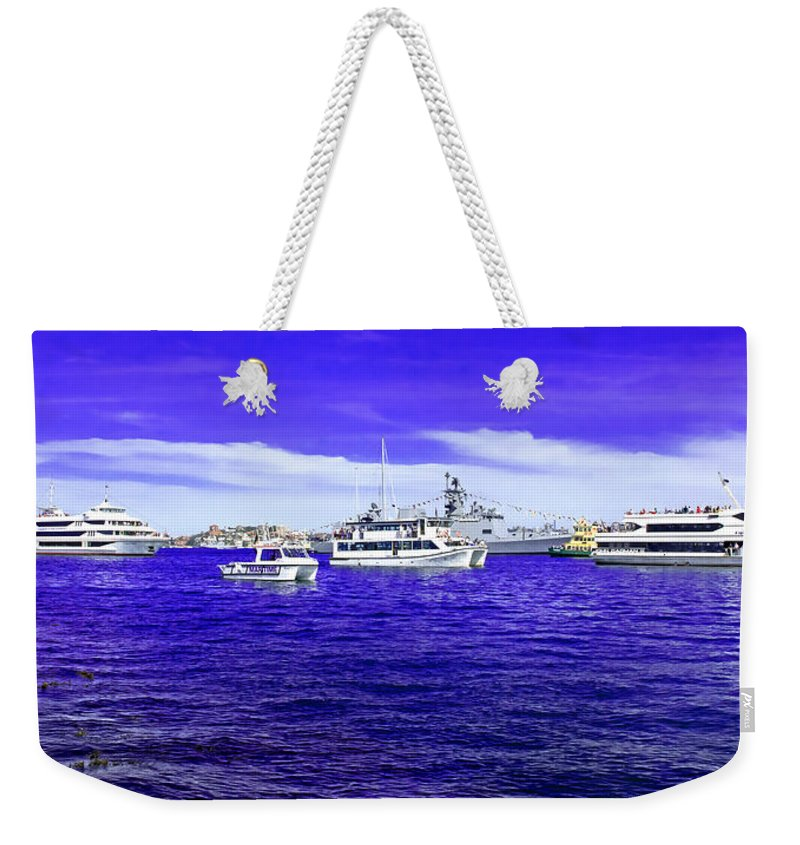Sydney Harbour Weekender Tote Bag featuring the photograph Boats Everywhere 3 by Miroslava Jurcik