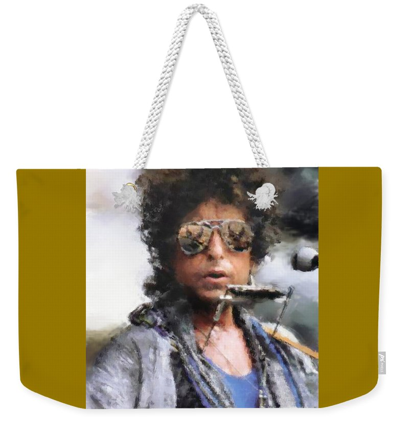 Dillon Weekender Tote Bag featuring the photograph Bob Dillon by Henry J Yasses