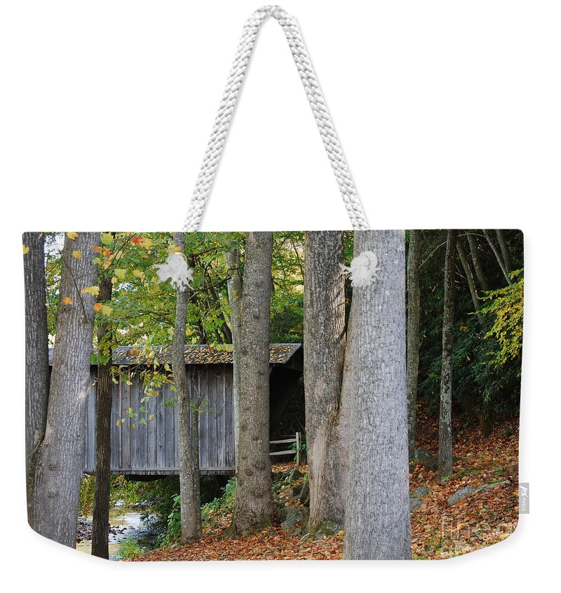 Bridge Weekender Tote Bag featuring the photograph Bob White by Eric Liller