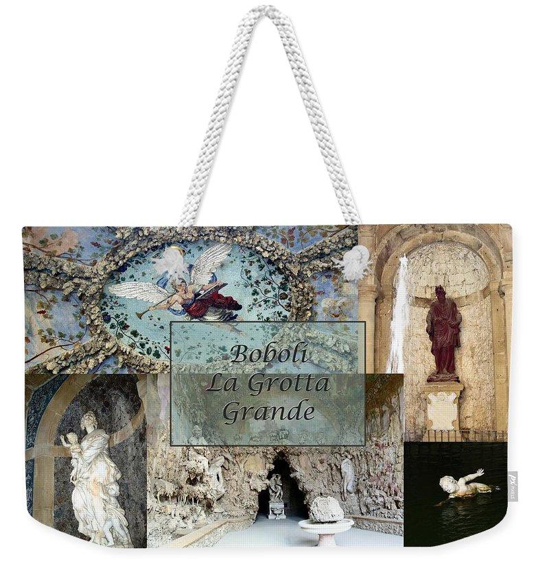 Cave Weekender Tote Bag featuring the photograph Boboli La Grotta Grande 2 by Ellen Henneke