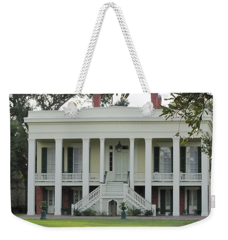 Plantation Homes Weekender Tote Bag featuring the photograph Bocage Plantation by Michelle Powell