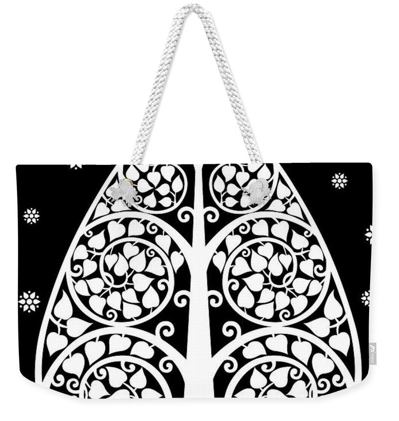 Bodhi Tree Weekender Tote Bag featuring the digital art Bodhi Tree_v-8 by Bobbi Freelance