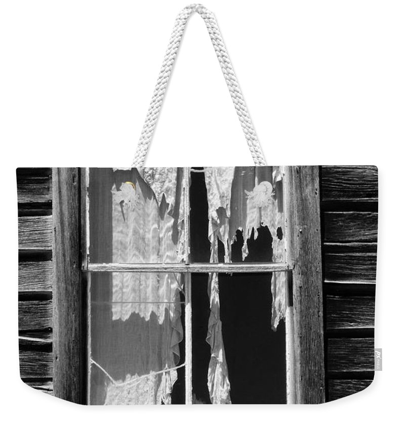 Black & White Weekender Tote Bag featuring the photograph Bodie Ghost Town by Sandra Bronstein