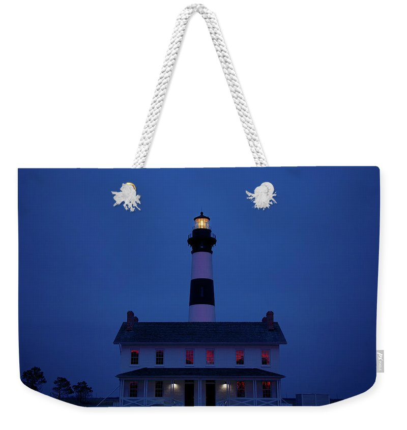 Lighthouse Weekender Tote Bag featuring the photograph Bodie Island Lighthouse by Mark Wagoner