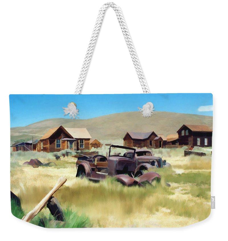 Bodie Weekender Tote Bag featuring the photograph Bodie by Kurt Van Wagner