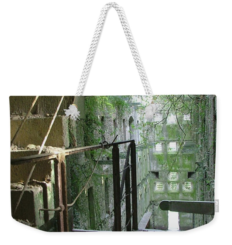 England Weekender Tote Bag featuring the photograph Bodmin Gaol Cornwall England by Heather Lennox