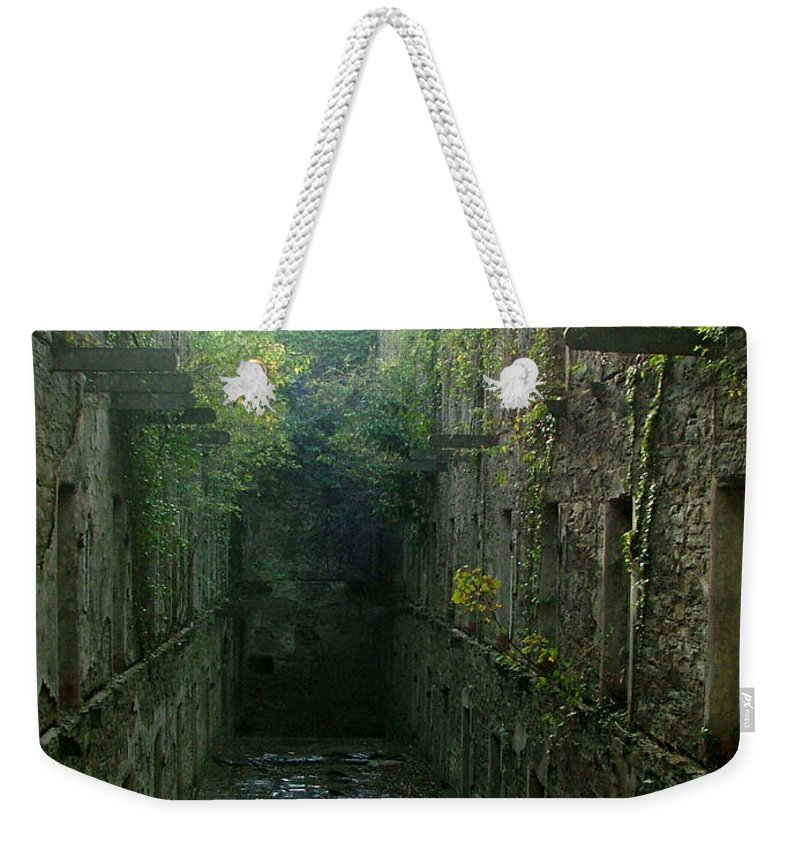 Bodmin Weekender Tote Bag featuring the photograph Bodmin Gaol by Heather Lennox