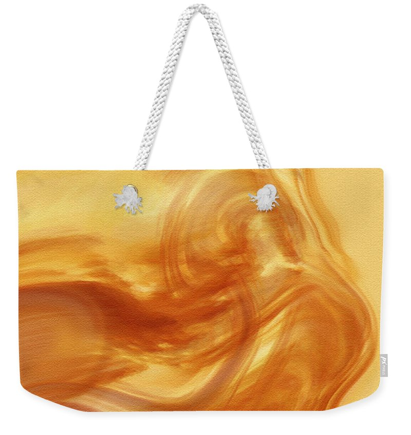 Abstract Art Weekender Tote Bag featuring the digital art Body Heat by Linda Sannuti