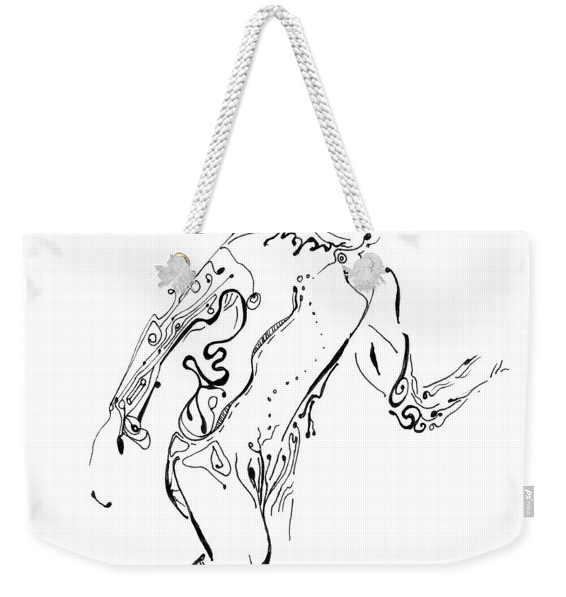 Figure Weekender Tote Bag featuring the painting Body In Motion by Regina Valluzzi
