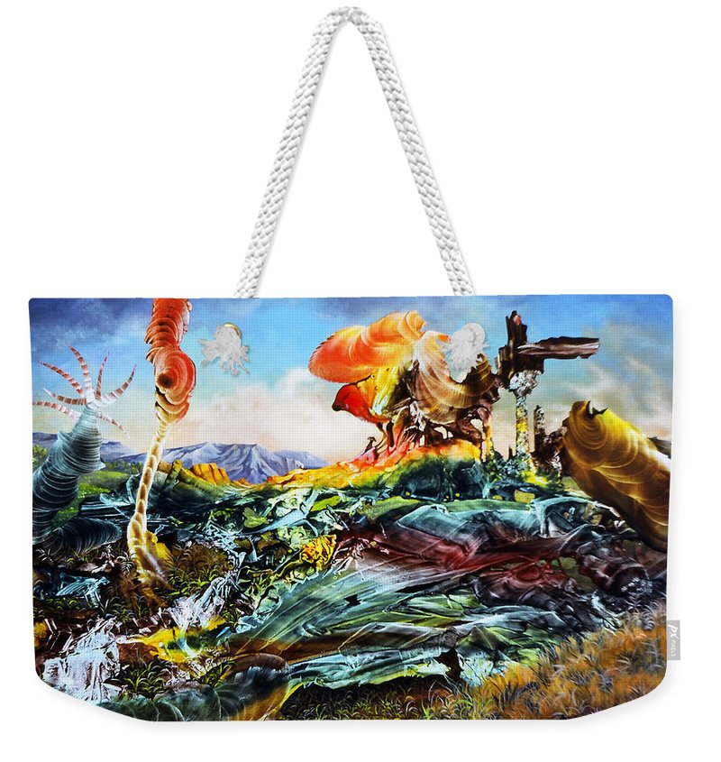 Landscape Weekender Tote Bag featuring the painting Bogomil Landscape by Otto Rapp