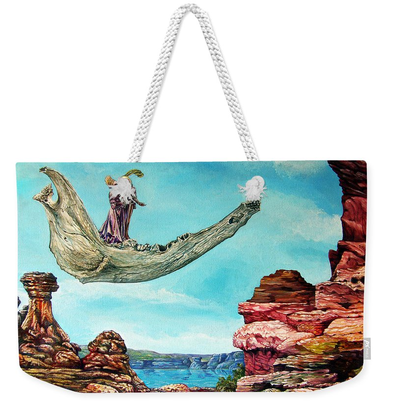 Painting Weekender Tote Bag featuring the painting Bogomils Journey by Otto Rapp
