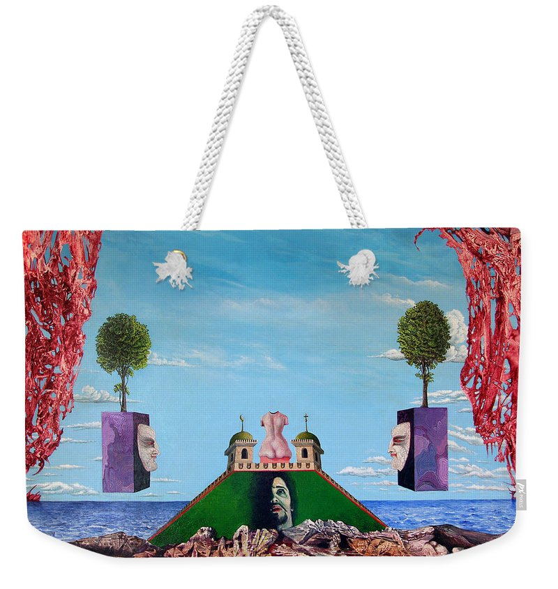 Painting Weekender Tote Bag featuring the painting Bogomils Monastic Retreat by Otto Rapp