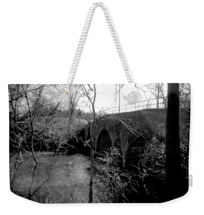 Photograph Weekender Tote Bag featuring the photograph Boiling Springs Bridge by Jean Macaluso