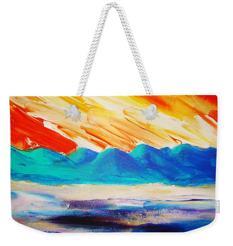 Bright Weekender Tote Bag featuring the painting Bold Day by Melinda Etzold