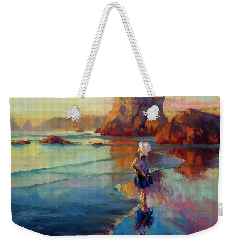 Child Weekender Tote Bag featuring the painting Bold Innocence by Steve Henderson