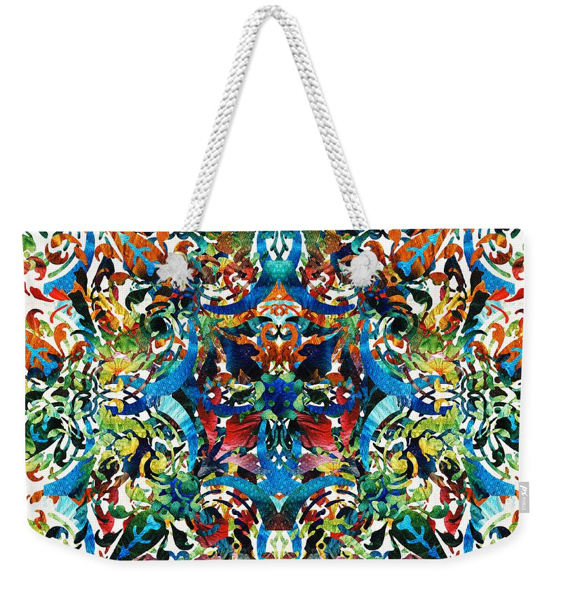 06eb279e466c Mandala Weekender Tote Bag featuring the painting Bold Pattern Art - Color  Fusion Design 8 By