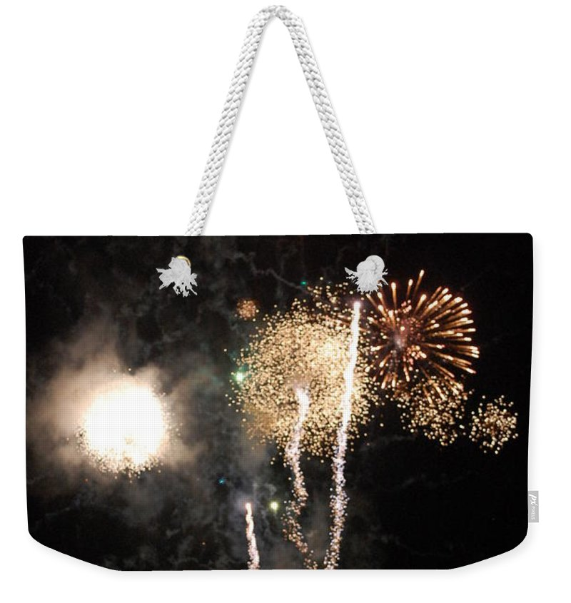 Firwworks Weekender Tote Bag featuring the photograph Bombs1 by David Lane