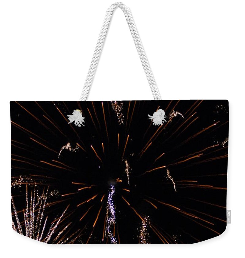 Firwworks Weekender Tote Bag featuring the photograph Bombs2 by David Lane